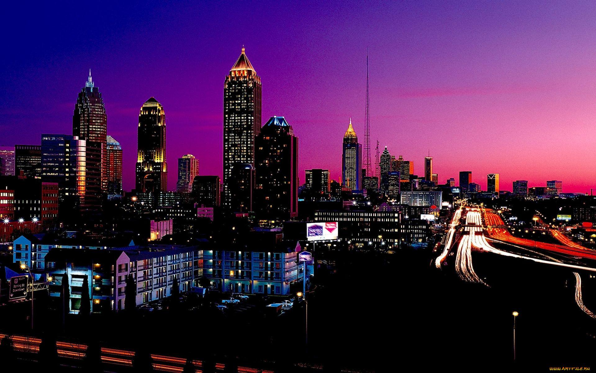 Картинки на телефон город ночью